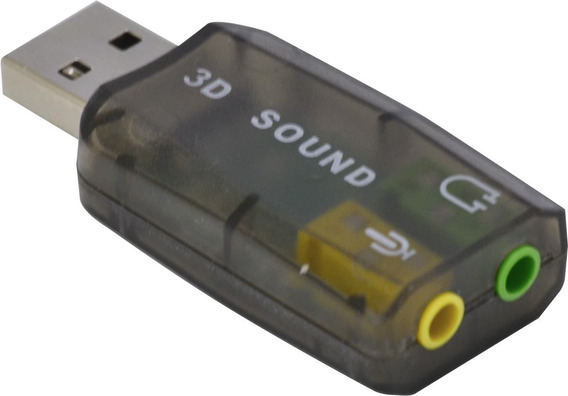 Adaptador Placa De Som Usb 5.1 Canais Virtual Ausb51 Vinik