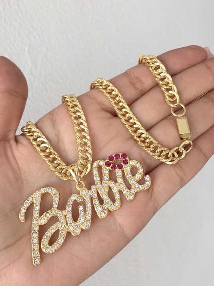 5 Cordão Barbie Banhado A Ouro 18 K