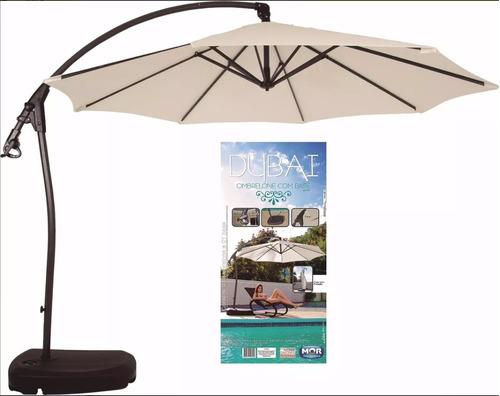 Guarda Sol Ombrelone Dubai Com Base Para Jardim E Piscina