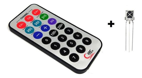 Kit Controle Remoto Ir + Receptor Ir + Codigo Arduino Pic
