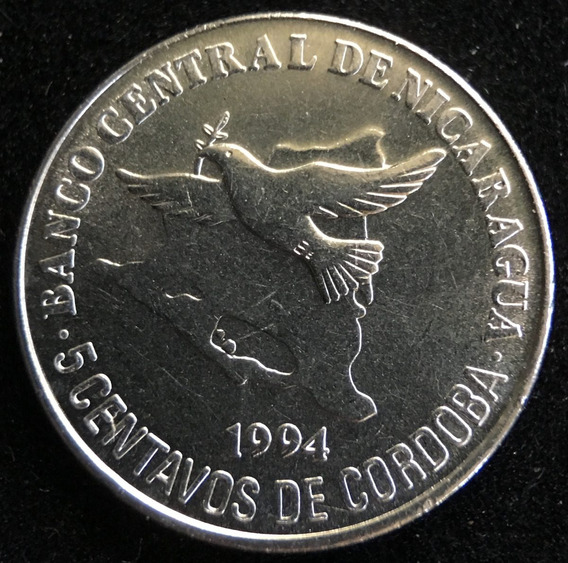 Nicaragua, 5 Centavos, 1994. Sin Circular