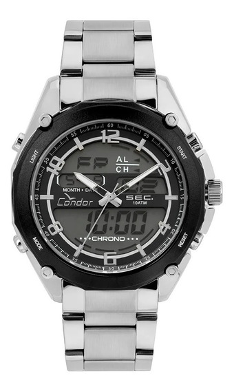 Relógio Condor Masculino Anadigi Prata - Coy121e6ac/3p