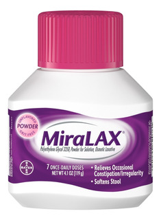 Milax Miralax Importado 119 Grms! (12)