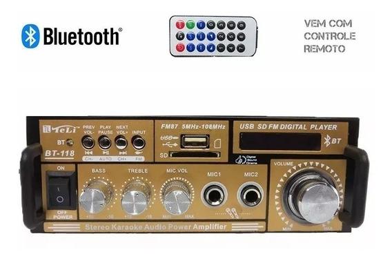 Mini Amplificador Mp3 , Fm, Bluetooth Karaoke