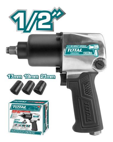 Pistola Impacto Neumatica Total Tools/1/2 /610nm/5cfm/90psi