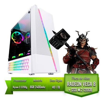 Pc Gamer Amd Ryzen 3 3200g/8gb 2400mhz /ssd 120gb M2 /hd 1tb