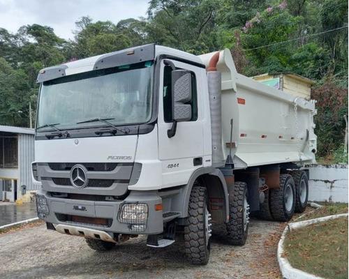 Imagem 1 de 15 de  Mercedes Actros 4844 8x4 Ano 2014 Caçamba  Traçado