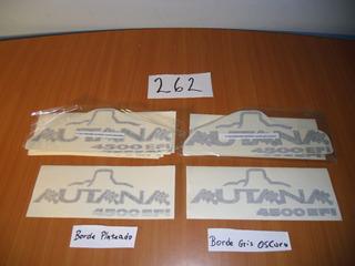 Juego Calcomania Guardafango Letras Autana 4500 Efi
