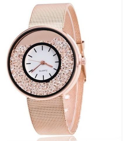 Relógio Feminino Rose Importado Luxo Fashion Promoção