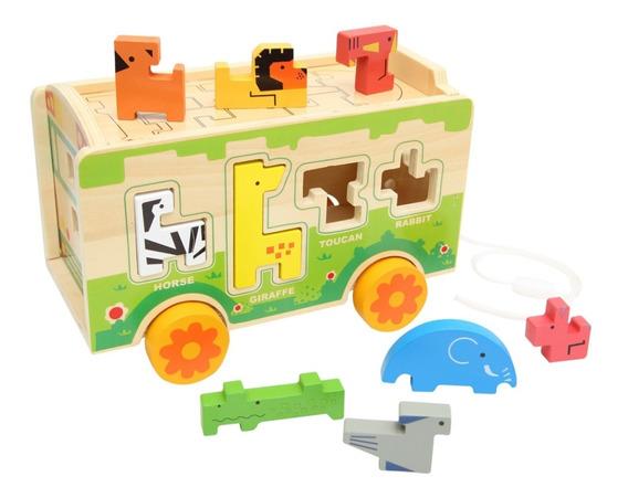 Juguete De Madera Zoologico Baby Way Bw-jm08 Multicolores