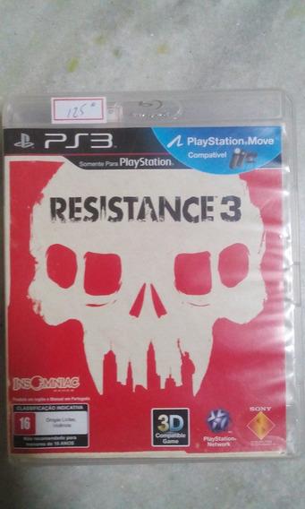 Jogo Sony Ps3 Resistance 3 Original Lote125