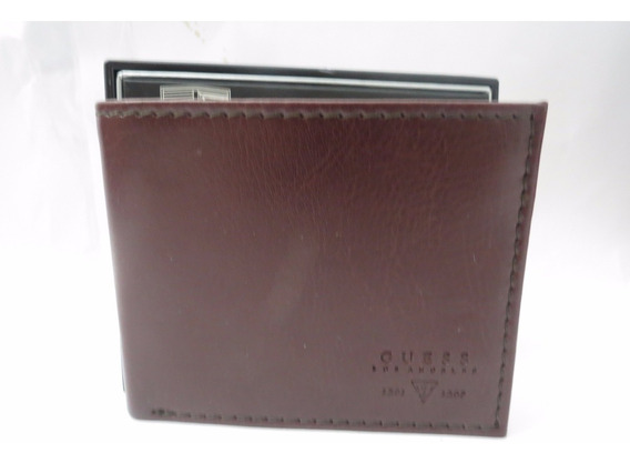 Carteira Masculina Guess Marrom Billfold With Zip