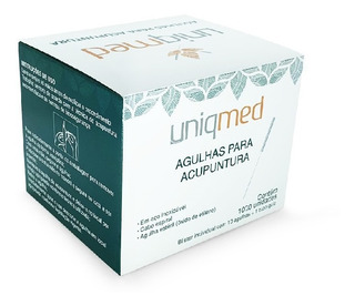 Agulha P/ Acupuntura 00,25 X 25 C/100 Unds Uniqmed