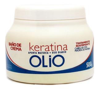 Baño De Crema Olio Con Keratina 500 Ml Hidratante Liso