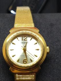 Relogio Feminino Dourado Orient 2,0 Cm