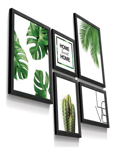 Quadro Decorativo Cacto Botânico Love Home Folha Sala Quarto