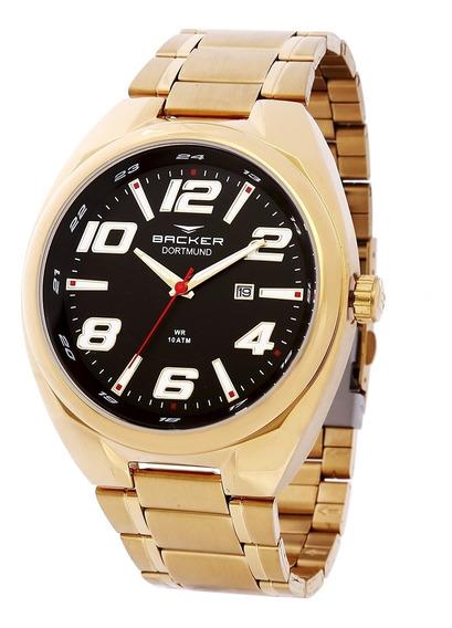 Relógio Masculino Backer Analógico 6492275m - Dourado