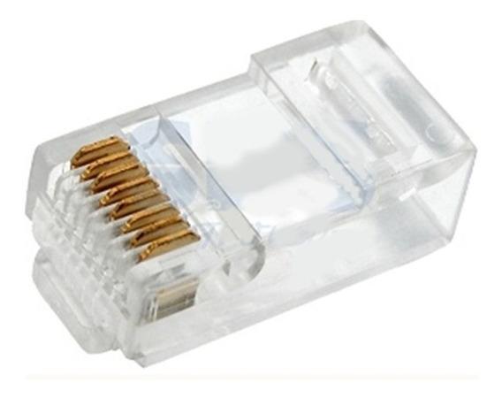 50 Unid. Lote Conector Rede Rj 45 Cat5 Para Cabo Lan