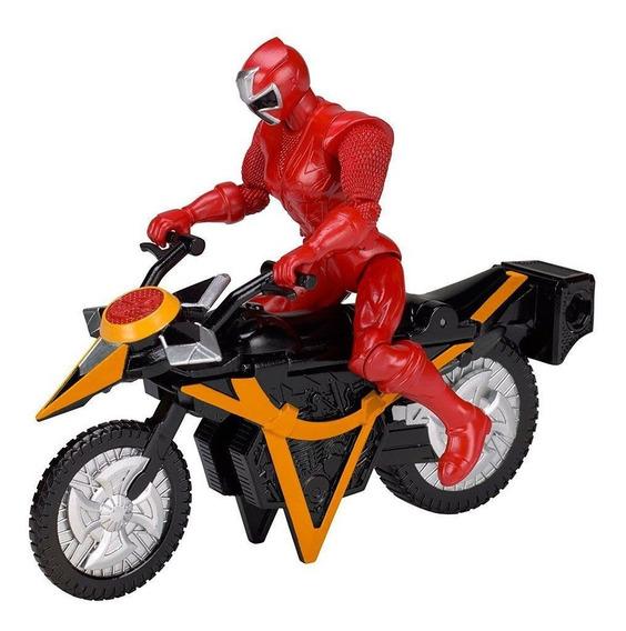 Power Rangers Moto Transformação Ninja Com Ranger Vermelho
