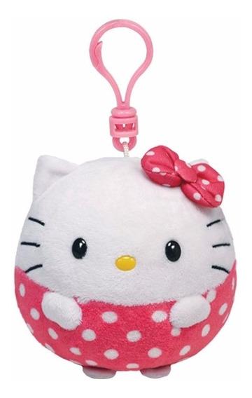 Pelucia Ty Chaveiro Hello Kitty Bolinha Clip Dtc