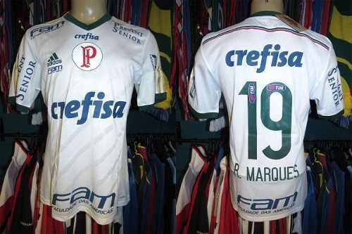 Palmeiras 2014 Camisa Reserva Tamanho M #19 R. Marques.