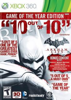 Batman Arkham City Game Of The Year.-360