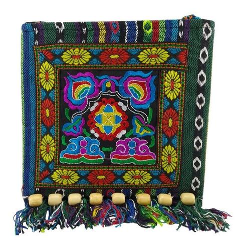 Imagen 1 de 5 de Bolsa Morral Hippie Vintage Bordado Flores Mod B4