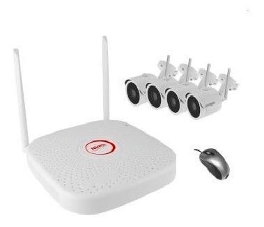 Kit Camara Seguridad Ip Wifi Inalambricas P2p Hd Exterior