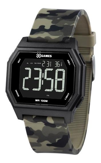Relógio X-games Masculino Digital Xgppd134 Pxep Camuflado