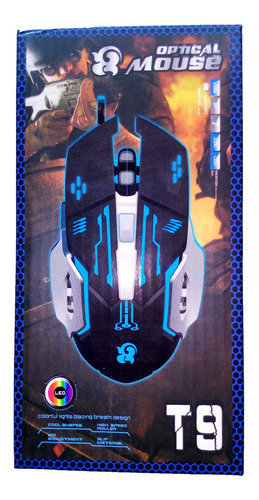 Mouse Gamer T9 6 Botones + Pad Mouse