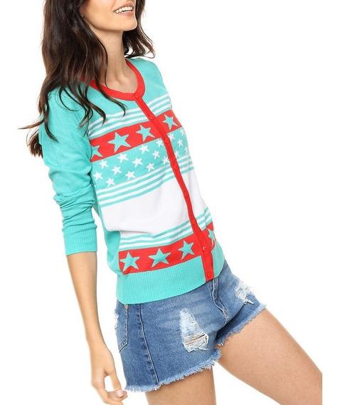 Sweater Hilo De Lycra Estrellas Cuello Redondo Talle Unico Nano 1439