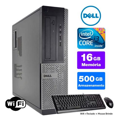 Imagem 1 de 5 de Cpu Barato Dell Optiplex Int I3 2g 16gb 500gb Brinde