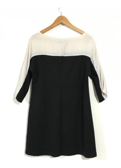 Vestido Cardón Xl Negro Y Blanco - Usado -