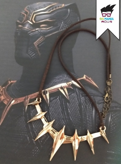 Colar Pantera Negra Killmonger Cordão