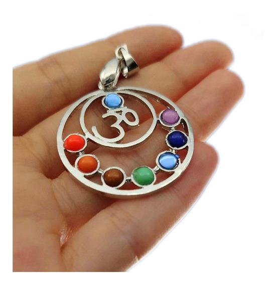 Collar Simbolo Om 7 Chakras Reiki Mandala Yoga Proteccion M1