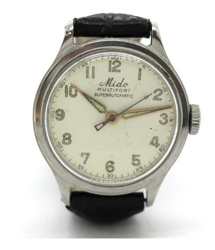 Relógio De Pulso Mido Multifort Superautomatic Em Aço J23086
