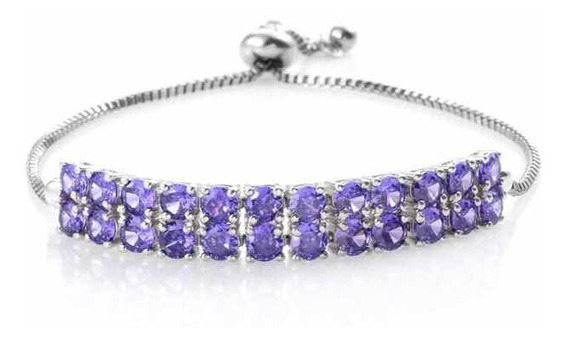 Brazalete Con Diamantes Simulados Marca Karis By Sts Jewels