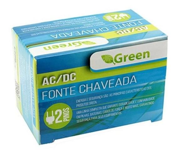 Fonte Chaveada 12v 1a Plug 5,5mm X 2,1mm Green