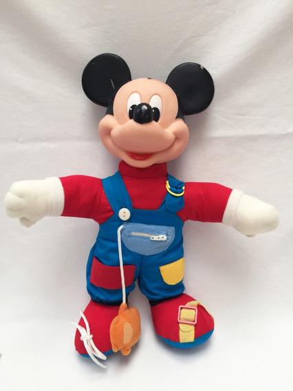 Boneco Mickey Ensina Você A Se Vestir Estrela Antigo Pelúcia