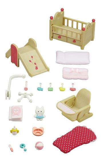 Brinquedo Infantil Conjunto Móveis Do Berçário - Sylvanian F