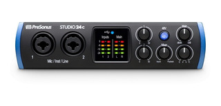 Presonus Studio24c Placa Audio Interface Midi Usb Daw 2x2