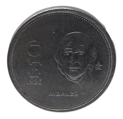 Moneda $10 Diez Pesos Hidalgo México Año 1986