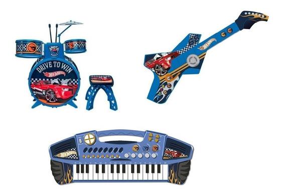 Instrumentos Musicais Hotwheels - Bateria Guitarra Teclado
