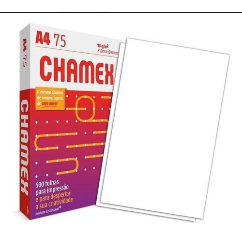Resma Papel A4 500fls 75g Chamex 210mm X 297mm