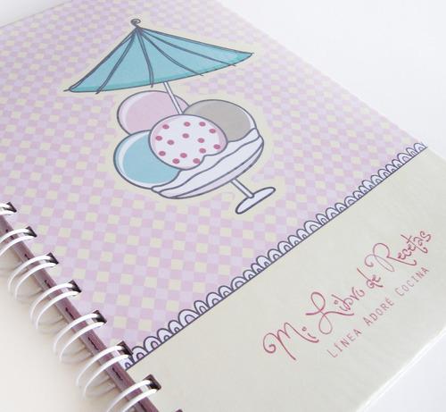 Cuaderno De Recetas - Rosa