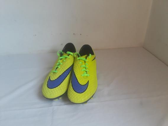 Zapatos Nike Hypervenom Amarillo Fosforescente Talla 44