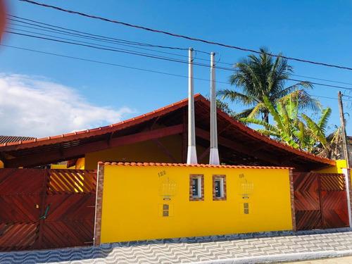 Imagem 1 de 12 de Casa Nova Com Piscina A Venda Em Mongaguá Ref-693