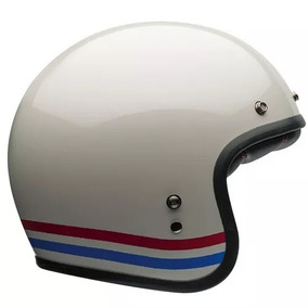 Capacete Bell Custom 500 Stripes Pearl Aberto