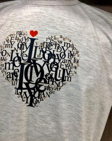 Camiseta Blusa Love Feminina E Masculina