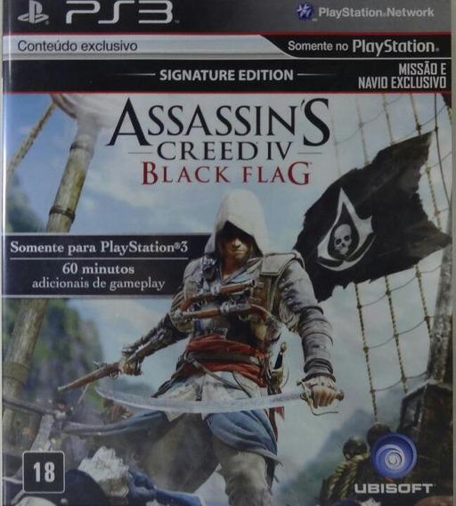 Jogo De Ps3 Assassins Creed Black Flag Mídia Física Dublado